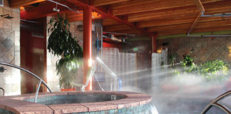 Therapy pools at the SunWater Spa