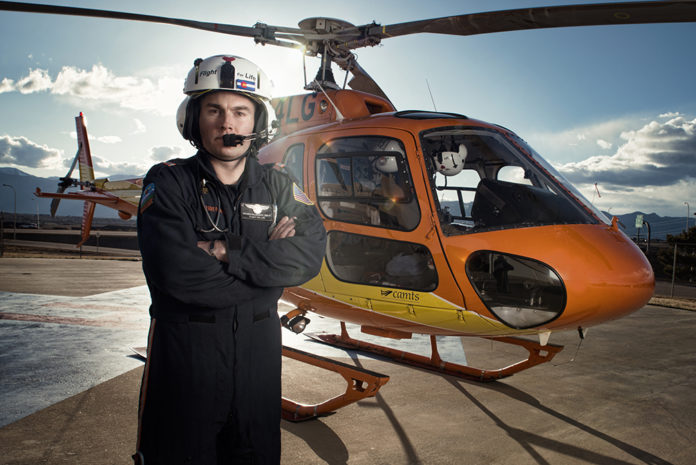 First responders: Brooks Dillahunty, Flight for Life medic with helicopter
