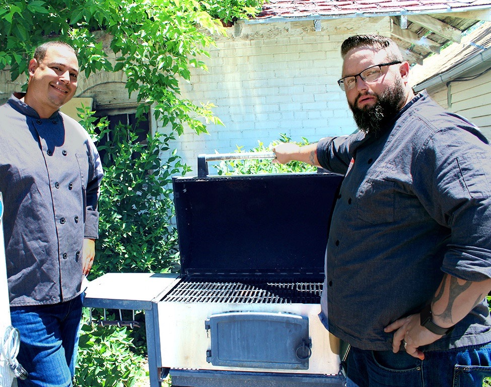 Brother Luck and Mark Henry at the grill