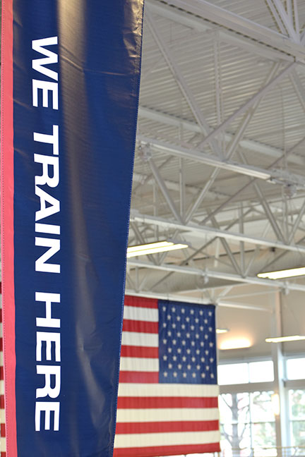banner in olympic training center