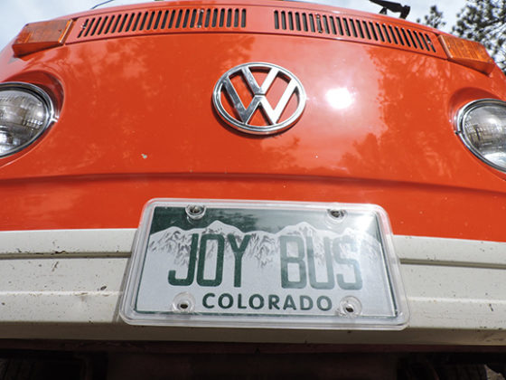 joy bus license plate