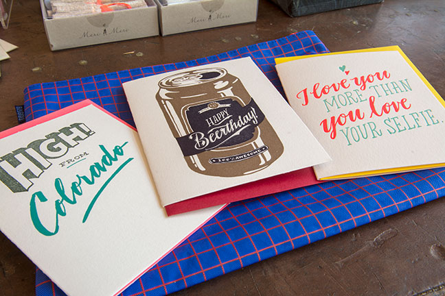Cards offered in the Ladyfingers Letterpress collection.
