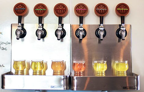Various cider taps at Ice Cave Cider House