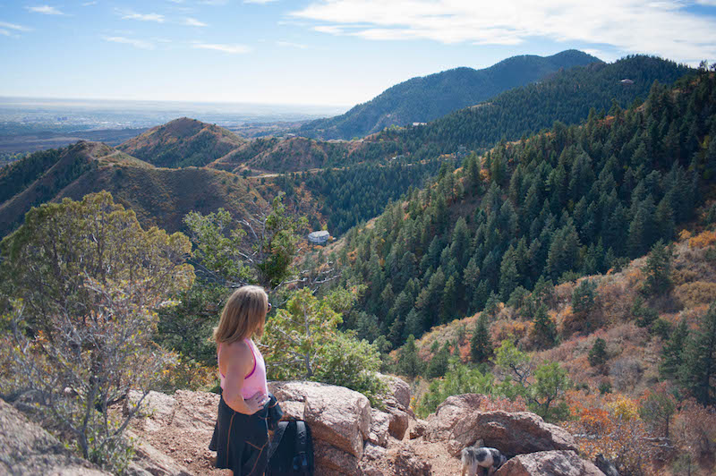 view from red mountain down to manitou springs