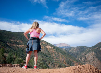 pikes peak from top of red mountain