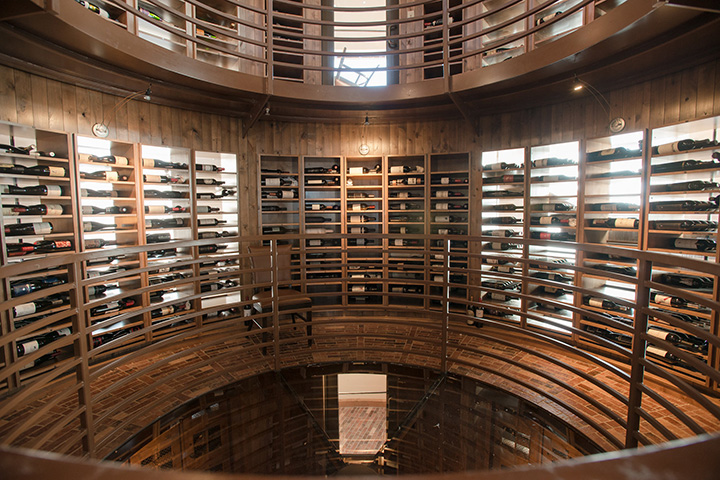 wine cellar at Flying Horse