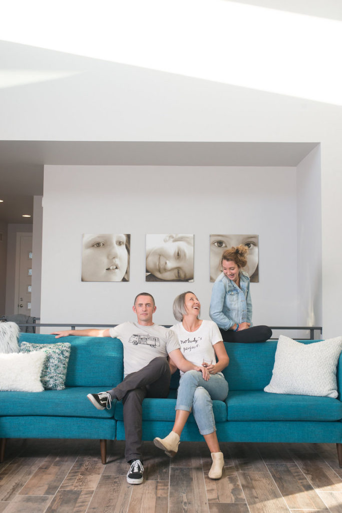 mchugh family in home