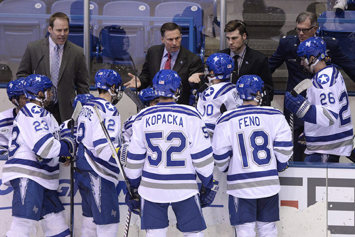 AFA hockey Coach Frank Serratore