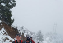 winter workout on the Manitou Incline