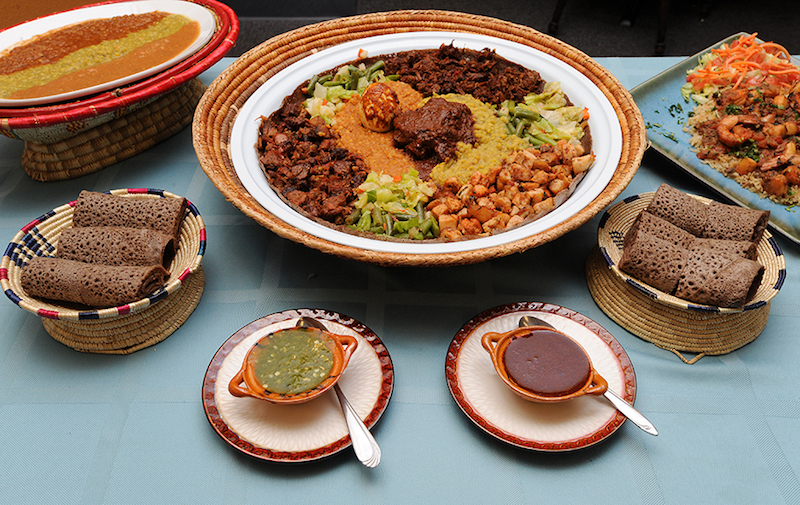 Ethiopian feast at Uchenna