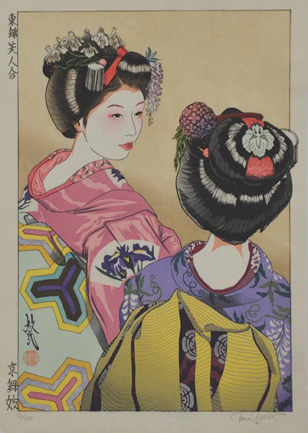 kimono print from japan style