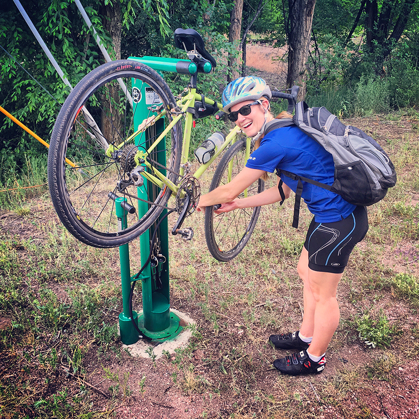 colorado springs bike repair station