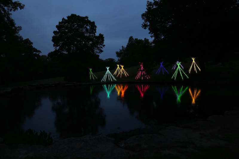 teepees will appear at green box arts festival