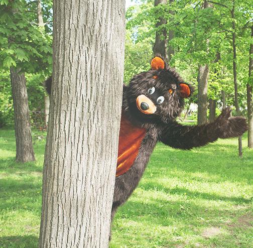 bear suit at festival
