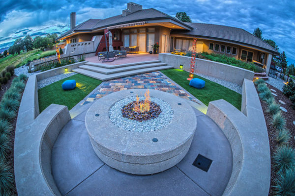 outdoor living spaces firepit