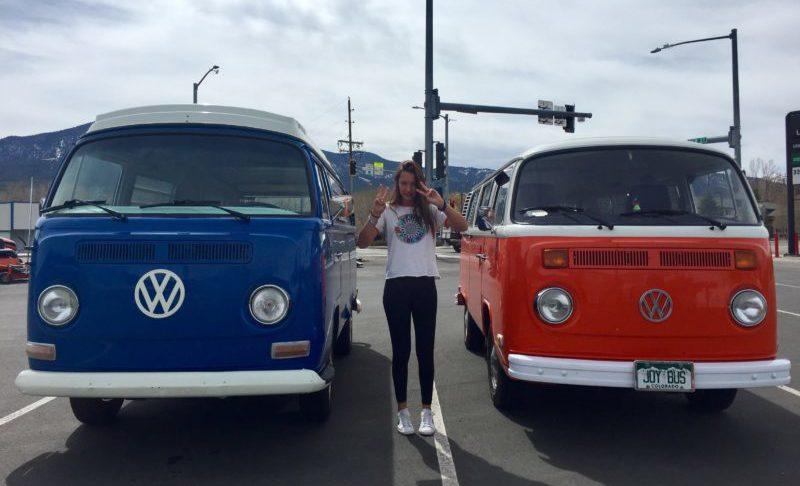 vw busses in salida, road trip colorado