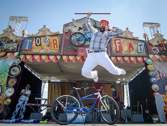 cycling fun at tour de fat
