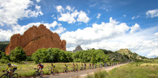 pro cycling in garden of the gods