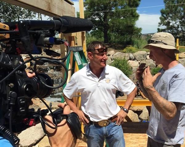 Garth Hystad on set of Mega Decks tv show