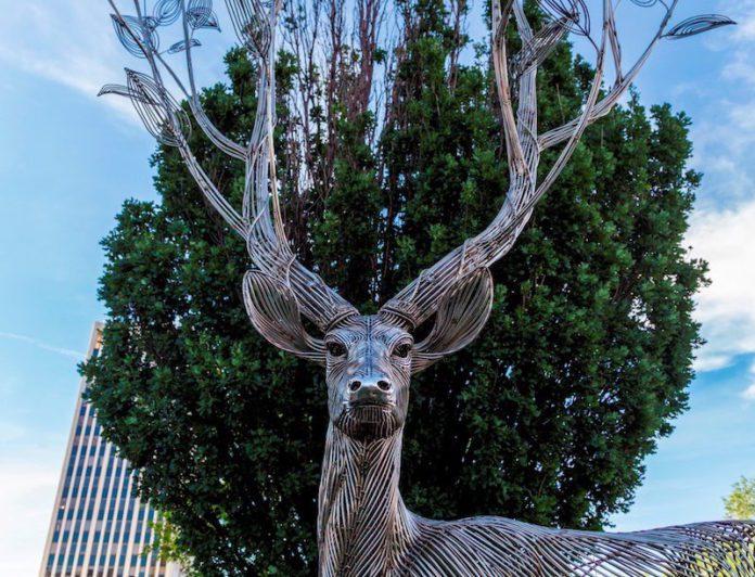 deer sculpture in art on the streets