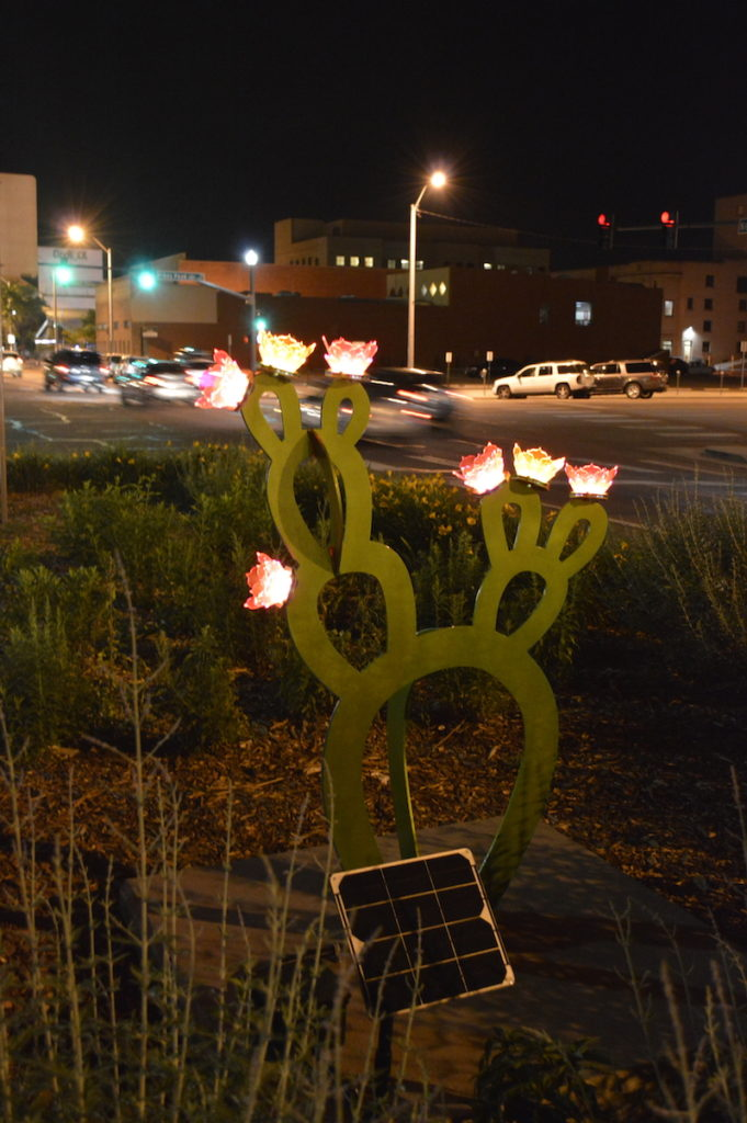 prickly pear sculpture in art on the streets