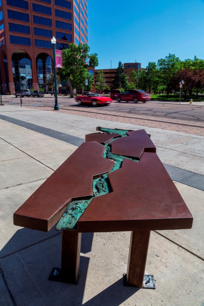 conference table sculpture in art on the streets