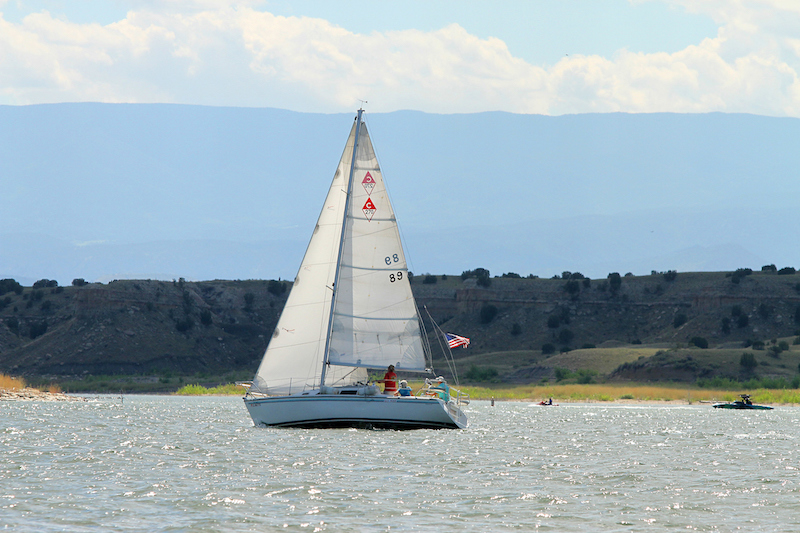 sailboat on lake pueblo state park
