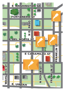 map of porchfest 2017