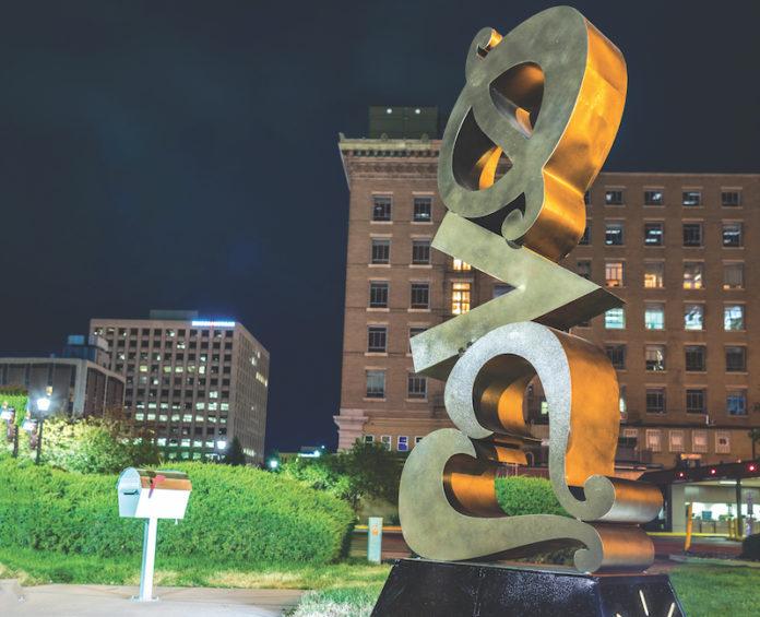 josh kennard love sculpture