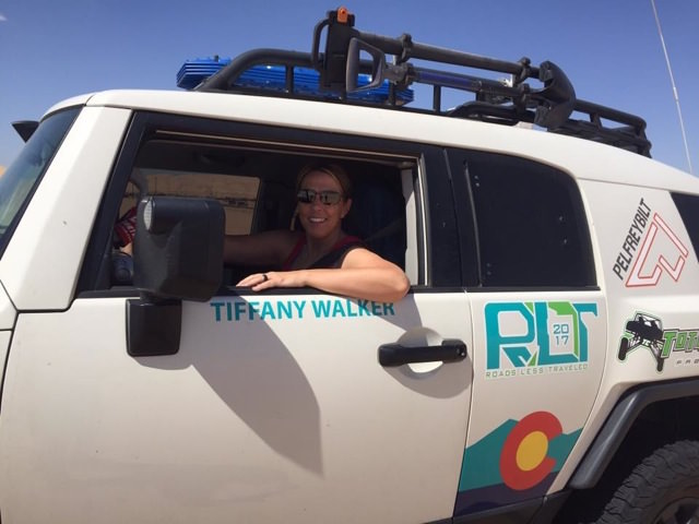 tiffany walker drives for rebelle rally