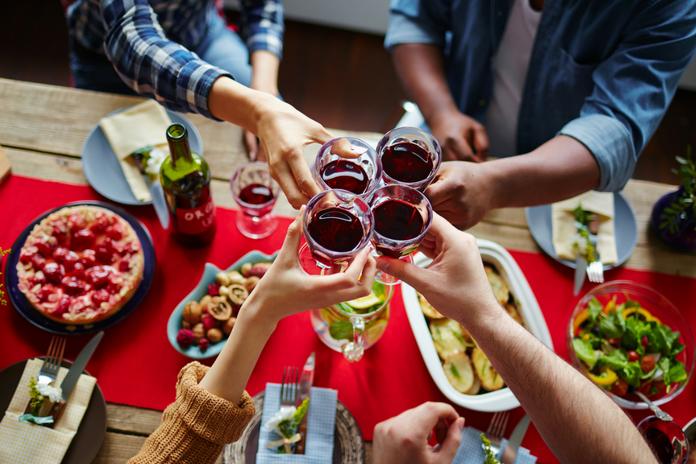 Holiday Wine toast