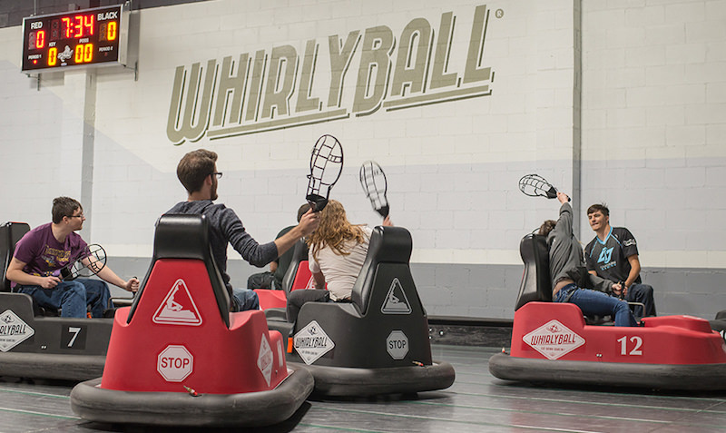 fun activities whirlyball carts and game