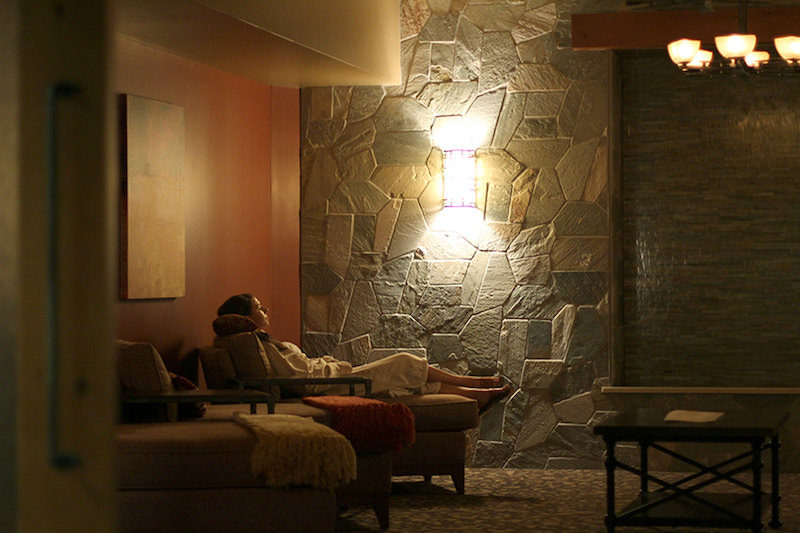woman relaxing at alluvia spa