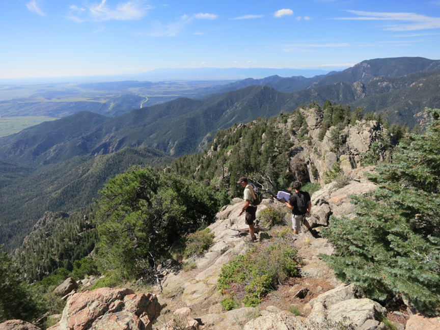 planning dixon trail on top of cheyenne mountain