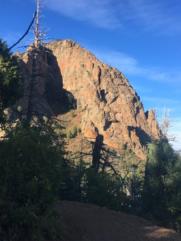 rock outcropping on cheyenne mountain