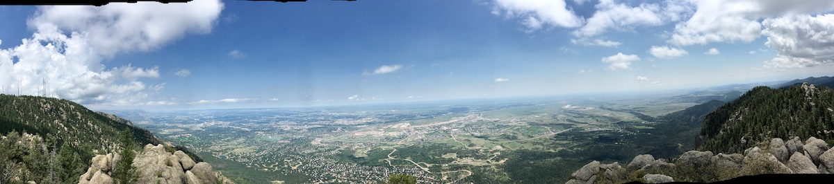 panorama view from top of cheyenne mountain