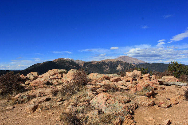 pike peak view from mount rosa trail run