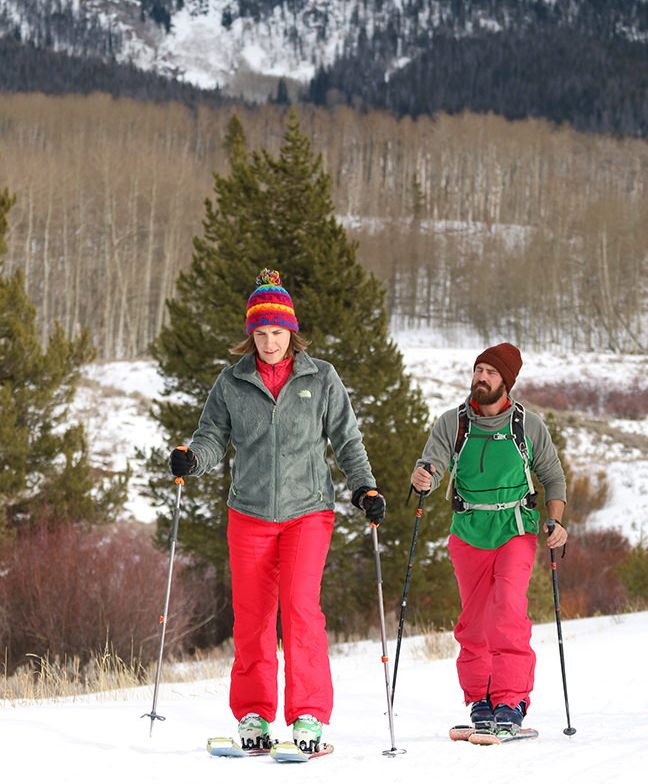 Jimmy and Alicia skiing near the yurt