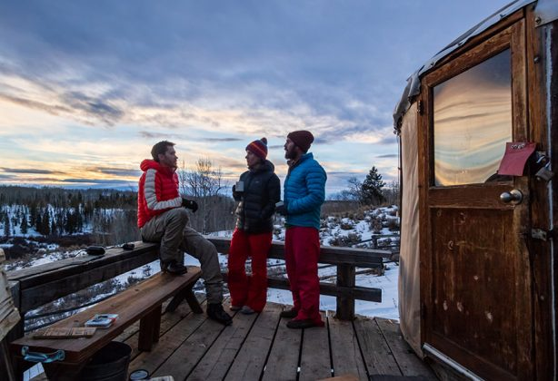 Snapshots of the yurt lifestyle - Après - Best way to finish the day: deck, sunset, good friends.