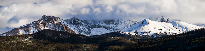 Snapshots of the yurt lifestyle: A view of the Rockies, near Walden