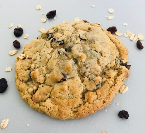 Fresh-baked cookie by Sasquatch Cookies.