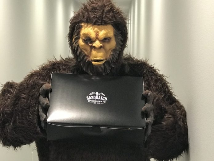 A sasquatch deliveryman will bring fresh-baked cookies to your home near downtown Colorado Springs.