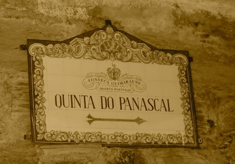 Sign for winery in Portugal.