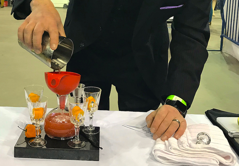 bartender pours at taste of pikes peak