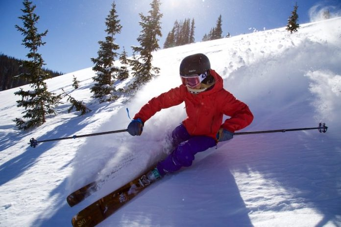 Blue bird ski day with Monarch Mountain ski pass
