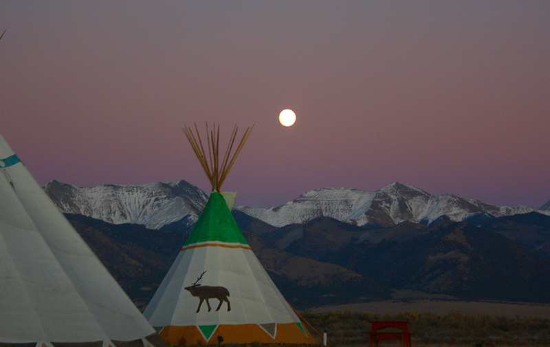 Beneath the Sangre de Cristo mountains sit heated tipis for a less hotel-like experience.