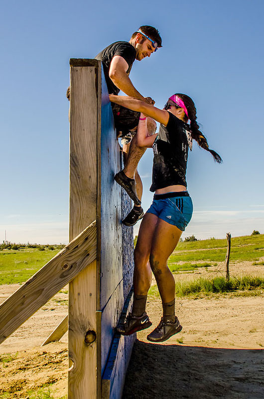 wall climbing at obstacle course races