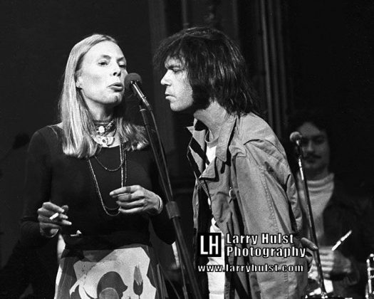 joni mitchell and neil young by larry hulst