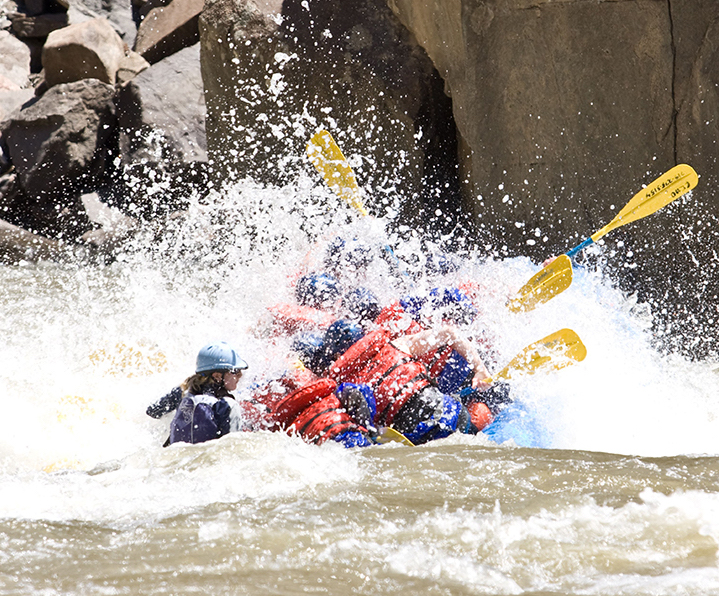 rafting the royal gorge in high water Echo Canyon Rafting