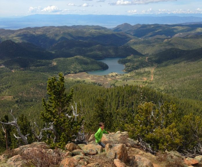 View from Mount Rosa in North Cheyenne Cañon.